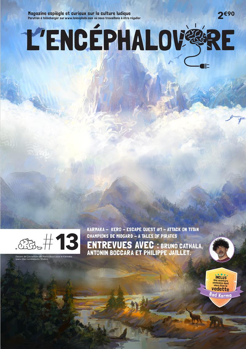 L'Encéphalovore 13, magazine de jeux de société, est disponible !