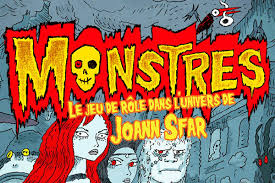 MONSTRES - Le jeu de rôle dans l'univers de Joann Sfar (Black Book  Éditions) • Game On Table Top